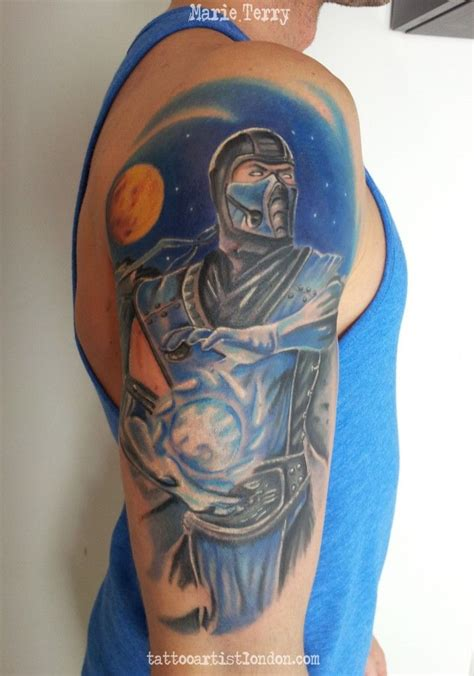 sub zero tattoo sub zero mortal kombat based