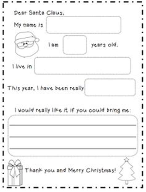 dear santa template kindergarten letter printable dear santa letter repinned by sos inc