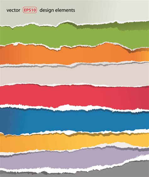 design banner eps file banner torn paper design elements vector 02 vector