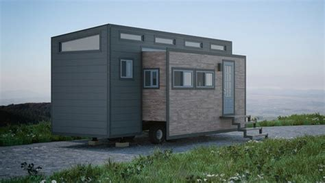 Tiny Home Heating And Cooling Options Tiny House Almost Doubles In Width At The Push Of A Button