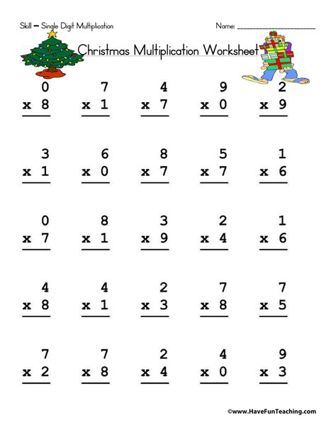 Math Digit Multiplication Worksheets by Single Digit Multiplication Worksheet