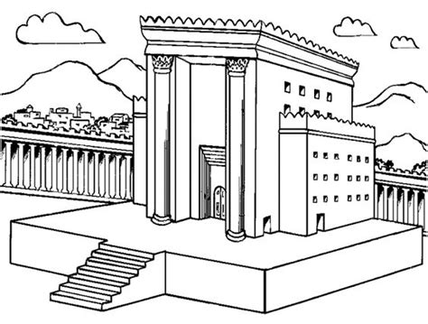 Coloring Page Of King Solomon S Temple | solomon s temple coloring page dcc kindergarten