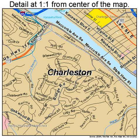 charleston wv map charleston west virginia map 5414600