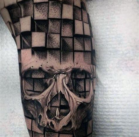 tattoo geometric skull 50 3d skull tattoo designs for men cool cranium ink ideas