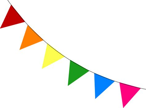 Sale Bunting Flag Hbd Colorful rainbow bunting diagonal clip at clker vector