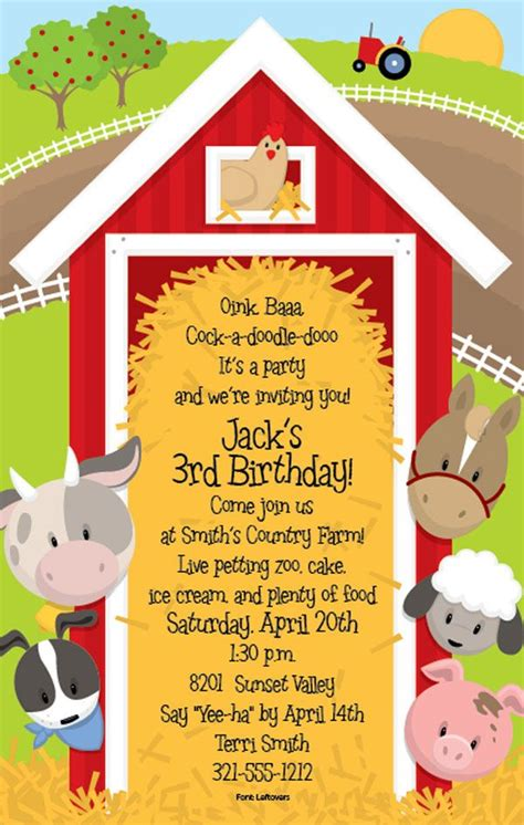 party invitation design your own farm birthday party invitations theruntime com