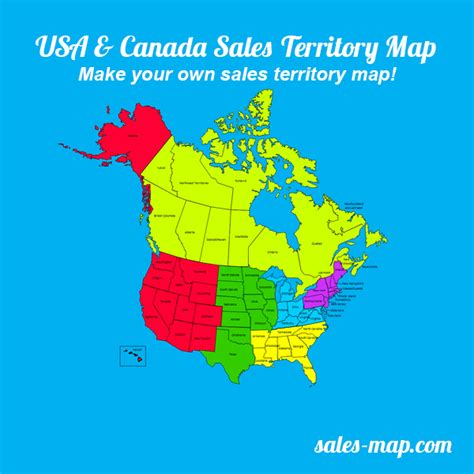 editable us and canada map editable sales territory maps customize your sales