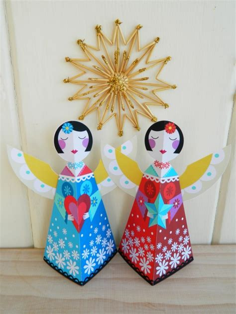 printable christmas angels  ellen giggenbach project papercraft decorative holiday