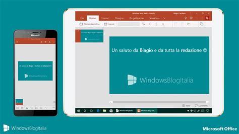microsoft office mobile le novit 224 di office mobile nell aggiornamento di settembre