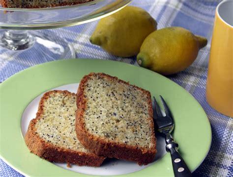 kuchen mit orangensaft getränkt lemon poppy seed pound cake zitronen mohnkuchen usa