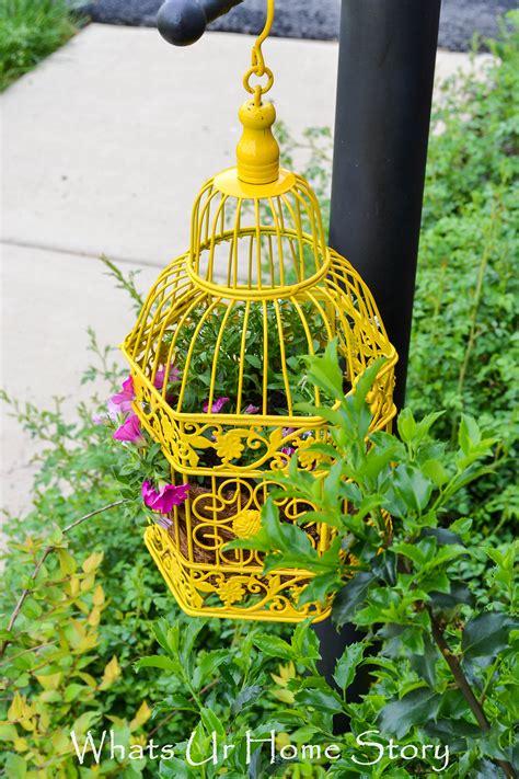 beautiful garden decor ideas  birdcage planters