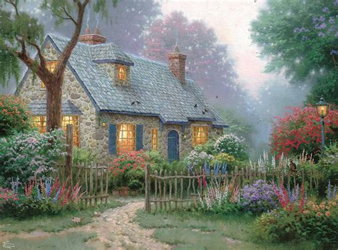 kinkade cottage kinkade cottage puzzles jigsaw puzzles for adults