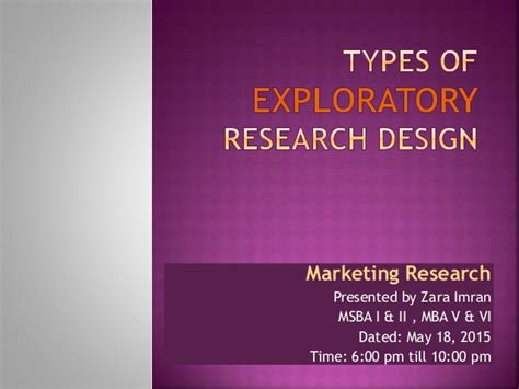 Types Of Research Methodology Mba by Types Of Exploratory Research Design