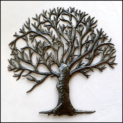 Metal Tree of Life Wall Art   Haitian Steel Drum Art Wall Decor