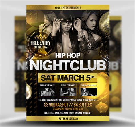 template flyer hip hop hip hop flyer template 2 flyerheroes