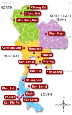 map  thailand   holiday destinations google