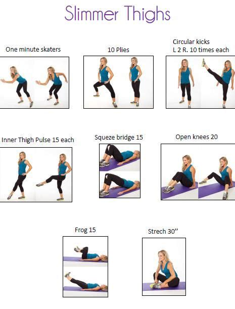 7 Leg Strengthening Exercises by Best 25 Slimmer Thighs Ideas On