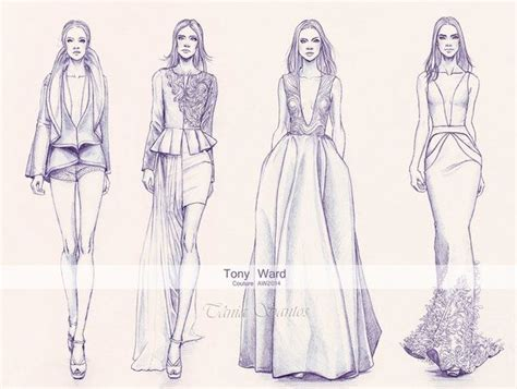 another fashion illustration doned in pencil from the tony