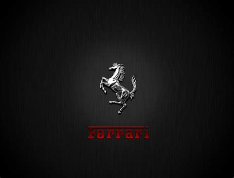 ferrari horse logo chrome ferrari logo horse free wallpaper download