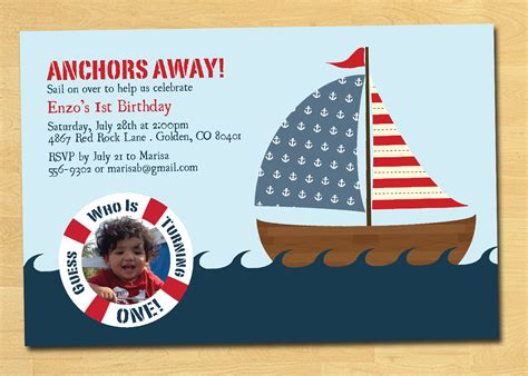 themed invitations template nautical birthday invitations templates ideas all