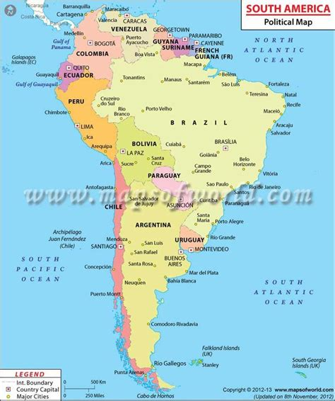 political map of south america bolivia northeast is brizil northwest is peru southwest is chile south is argentina