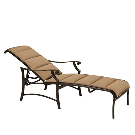 Sling Chaise Lounge Tropitone 711232ps Montreux Ii Padded Sling Chaise Lounge Discount Furniture At Hickory Park