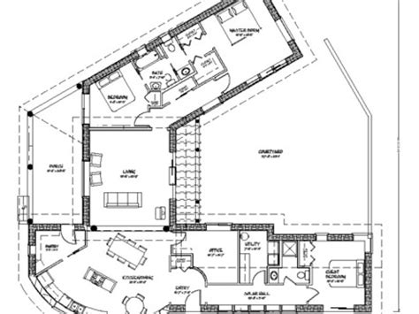 floor plans with courtyard modern ranch house plans contemporary house plans with