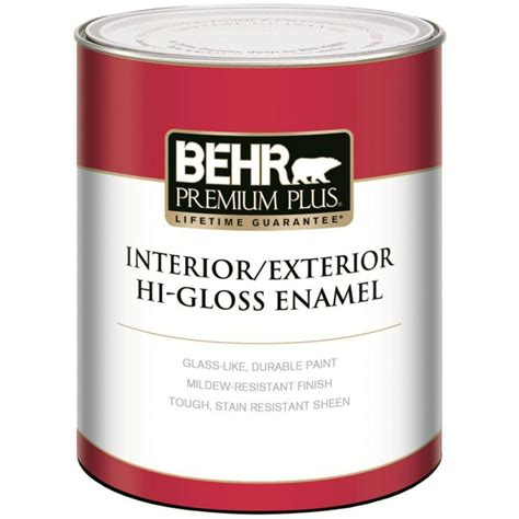 high gloss paint behr premium plus premium plus interior exterior high