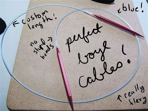 make your own circular knitting needles how to make your own bendable cables for the boye circular