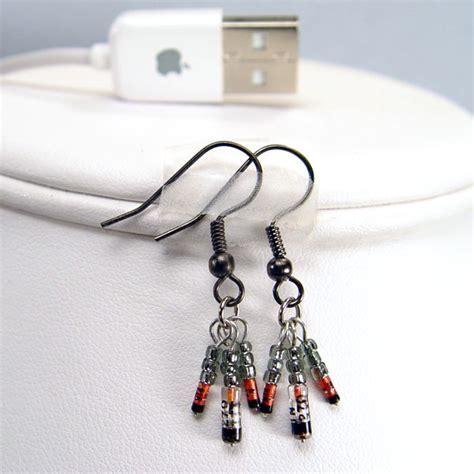 diode jewelry black germanium diode earrings stewart jewelry designs