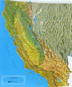 california relief map california state raised relief map ncr color