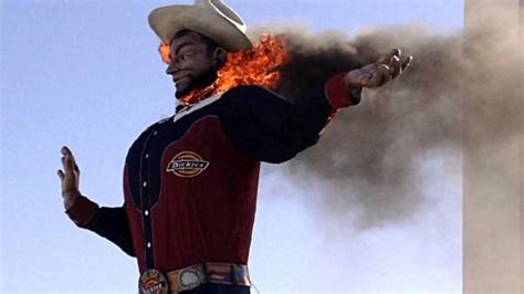 bid on big tex burns destroyed by at tx state fair