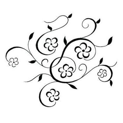 simple vine tattoo designs swirly designs pin swirly vine and flower tattoo design