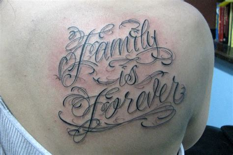 family script tattoo designs family forever pictures to pin on