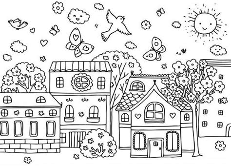 village house coloring pages the clever king stories for muslim kids