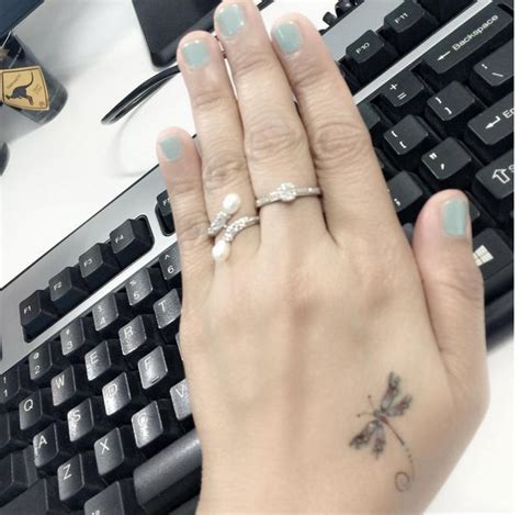 small girly hand tattoos 17 best ideas about small dragonfly on