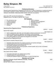 operating room resume berathen