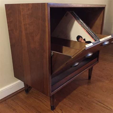 Mid Century Album Storage Cabinet by Lane Acclaim   EPOCH