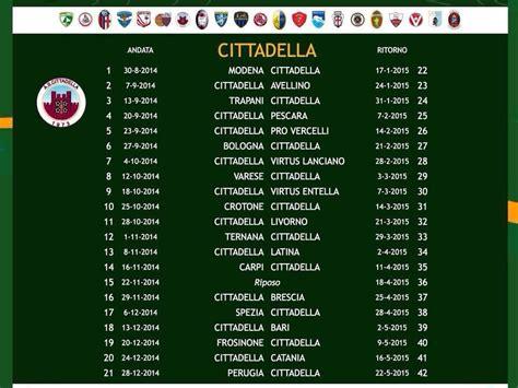 Calendario N F L 2015 Calendario Serie B 2014 2015 A S Cittadella 1973