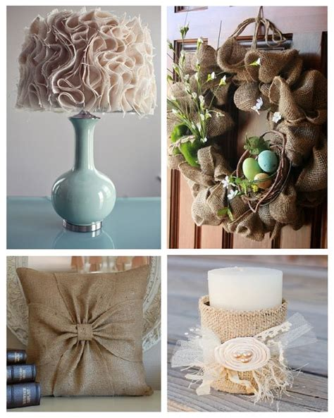 home decor with burlap bless you burlap