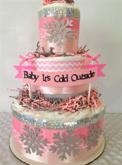 How To Make A Cake Centerpiece For Baby Shower by Baby It S Cold Outside Baby Shower Cake Centerpiece