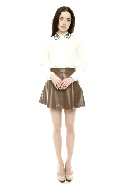 36 point 5 leather circle skirt from bucktown by dress up