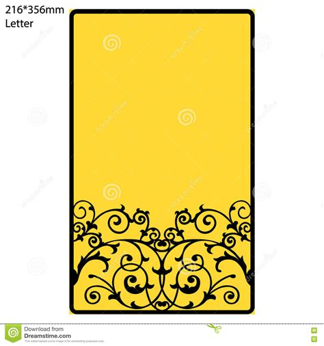Greeting Card Envelope Template Mailing by Wedding Invitation Or Greeting Card With Abstract Ornament
