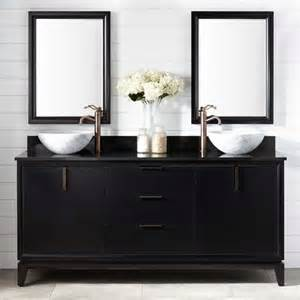 72 Vanity Black 72 Quot Talyn Mahogany Vessel Sink Vanity Black
