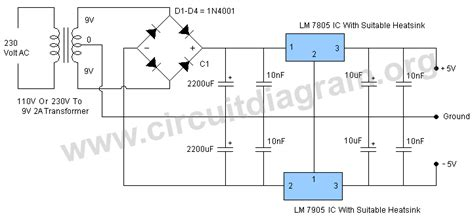 5v 12v power supply circuit diagram 5v dual power supply circuit diagram
