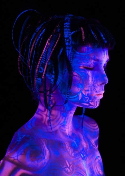 Light Cyber Black Light Cyber Goth Glowing The Dark Goth Image