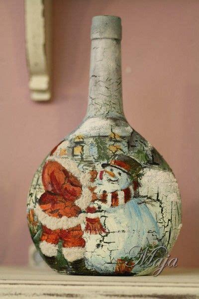 Decoupage Bottle Ideas - bottle with decoupage