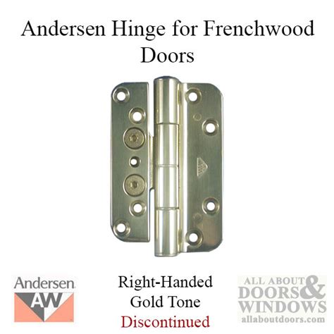 Patio Door Hinges Andersen 1992 2005 Frenchwood Door Hinge Right Goldtone