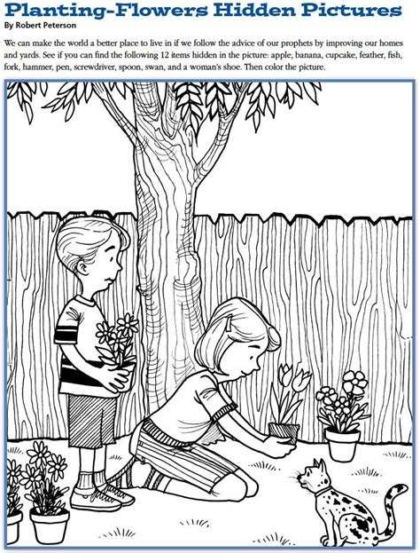 lds printable hidden pictures 253 best lds children s coloring pages images on pinterest