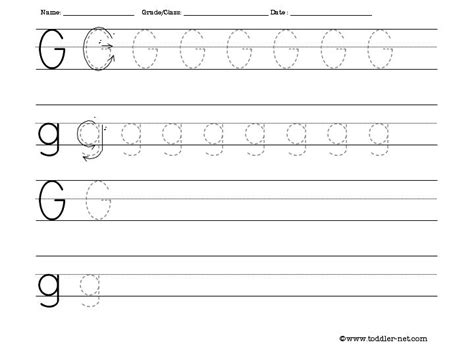 Memo Writing Exercises Image Gallery Lowercase G Tracing Worksheets